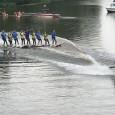 """Ūdensslēpošanas klubs """"Partizāņu ugunskurs"""" zvejnieksvētkos Pāvilostā priecēja skatītājus ar ūdensslēpošnas demonstrējumiem. Video:IMG_3347"""